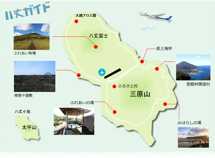 八丈島の地図